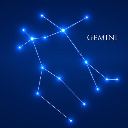 interoperability: Constellation Gemini Zodiac Sign. Vector Illustration. Eps 10