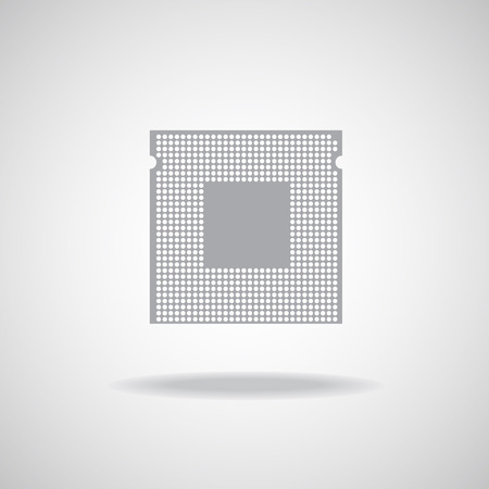 electrical part: Cpu. Microprocessor. Microchip. Isolated  technology background. Vector illustration. Eps 10