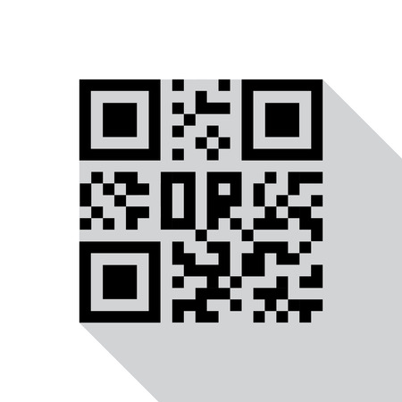 qrcode: Qr code icon. Vector illustration. Eps 10