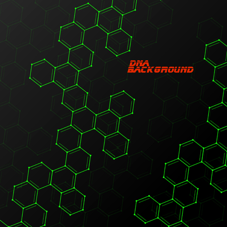alternating organic: Colorful molecule DNA. Abstract background. Vector illustration. Eps10 Illustration