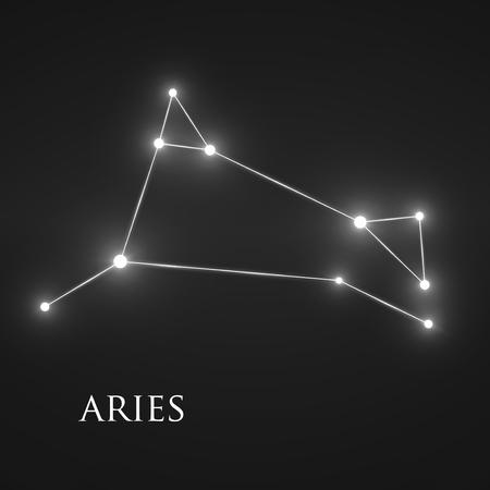 interoperability: Constellation Aries Sign.  Illustration