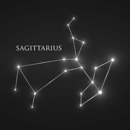 constellation sagittarius: Constellation Sagittarius Sign.