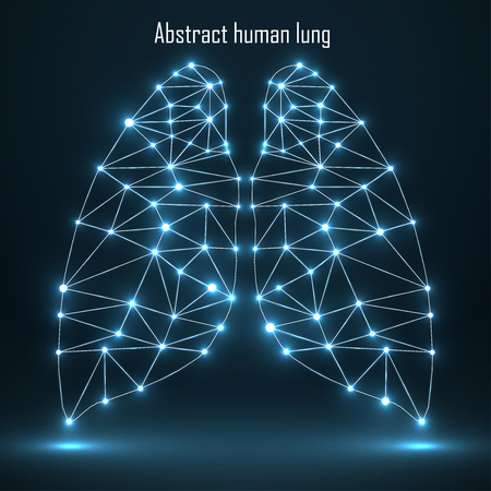 human lung: Abstract human lung, network connections.