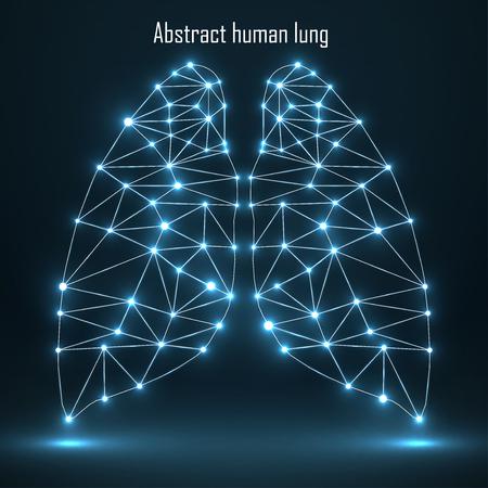 Abstracte menselijke longen, netwerkverbindingen.