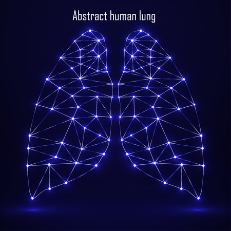 lung transplant: Abstract human lung, network connections. Vector illustration.  Illustration