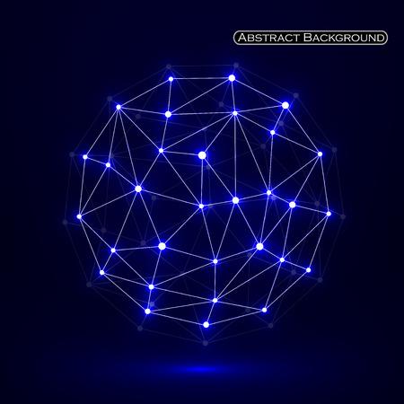 Abstrakt polygonalen Bereich, Netzwerkverbindungen. Futuristische Technologie-Stil. Vektor-Illustration. Eps 10