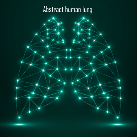 lung transplant: Abstract human lung, network connections. Vector illustration. Eps 10 Illustration