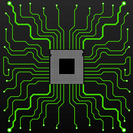 electronical: Circuit Board. CPU. Vector illustration. Eps 10