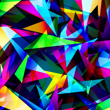 chaotically: Abstract geometric background with triangles.