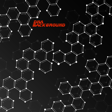 alternating organic: Molecule DNA Abstract background.