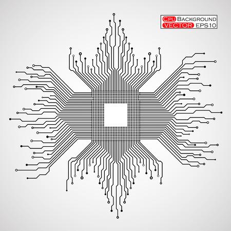 回路基板の図。  イラスト・ベクター素材