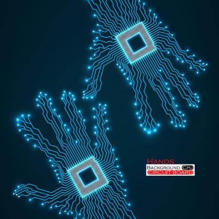 Ilustración de la placa de circuito.