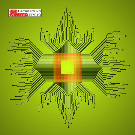 microprocessor: Microprocessor Microchip Circuit board.