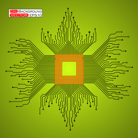 electronical: Microprocessor Microchip Circuit board.