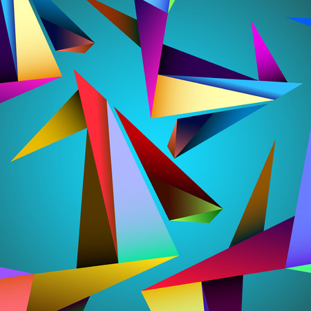 chaotically: Abstract geometric background with triangles. Modern style. Vector illustration.