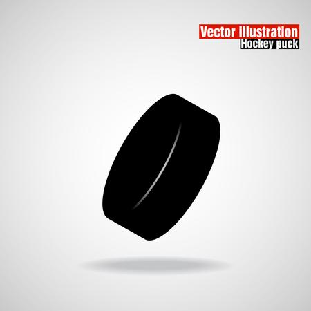 puck: Hockey puck. Vector illustration. Illustration