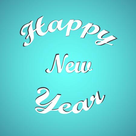 happy new year text: Stylish text Happy New Year.