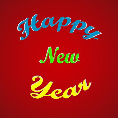 happy new year text: Stylish text Happy New Year Illustration