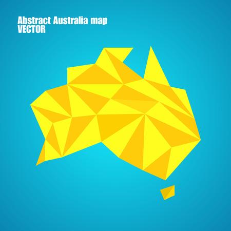 map of australia: Abstract Australia map in polygonal style. Vector illustration