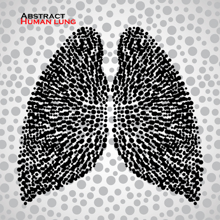 human lung: Abstract human lung. Illustration