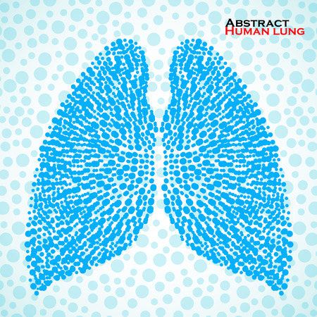 Abstract human lung. Illustration