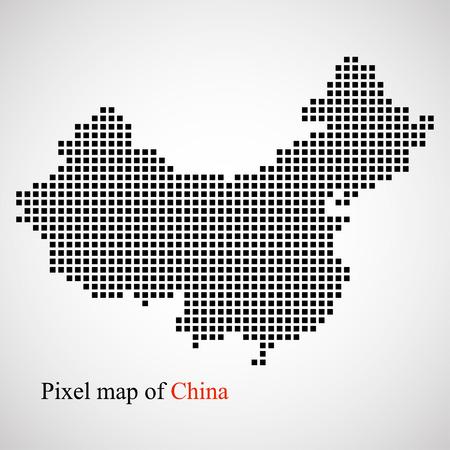Pixel kaart van China.