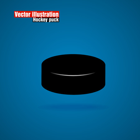 puck: Hockey puck. Illustration