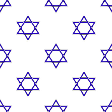 zionism: Star of David seamless pattern Illustration