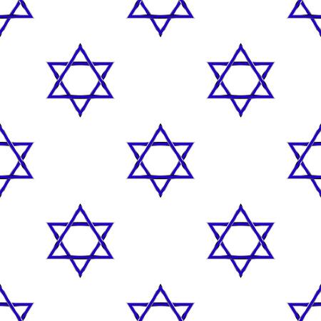 zionism: Star of David seamless pattern Illustration