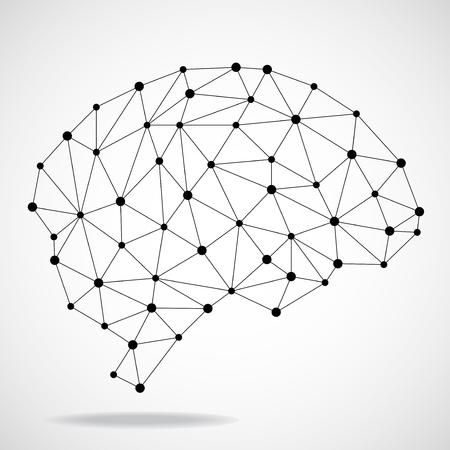 추상 형상 두뇌, 네트워크 연결입니다.