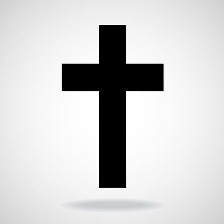 cruz religiosa: Cruzar. Símbolo cristiano. Ilustración del vector. Eps 10