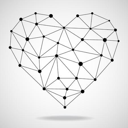 Geometrische hart. Vector illustratie.