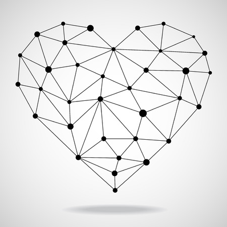 Geometric heart. Vector illustration. Illustration