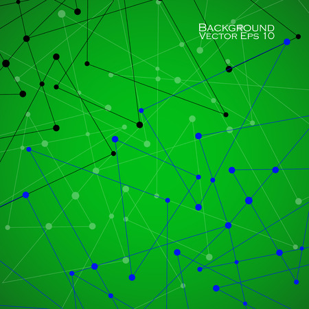 background information: Abstract background with dot and line, network connection, molecule structure. Vector illustration. Eps 10
