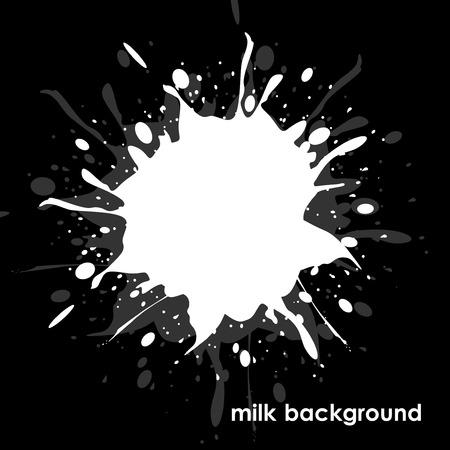 milkman: Milk on  black background.
