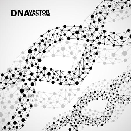 抽象的な DNA らせん状分子構造。