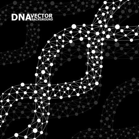alternating organic: Abstract DNA spiral, molecule structure. Illustration