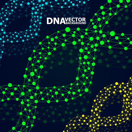 dna spiral: Abstract DNA spiral, molecule structure. Illustration