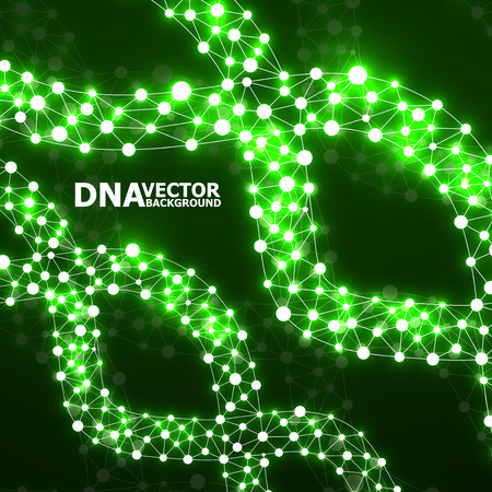 alternating organic: Abstract DNA spiral, molecule structure. Vector illustration. Eps 10 Illustration