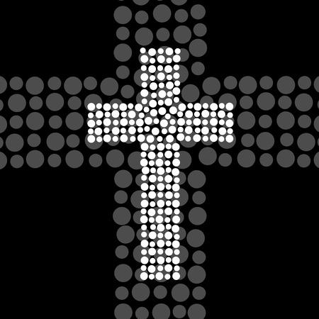christian faith: Abstract cross. Christian Symbol. Vector illustration. Eps10