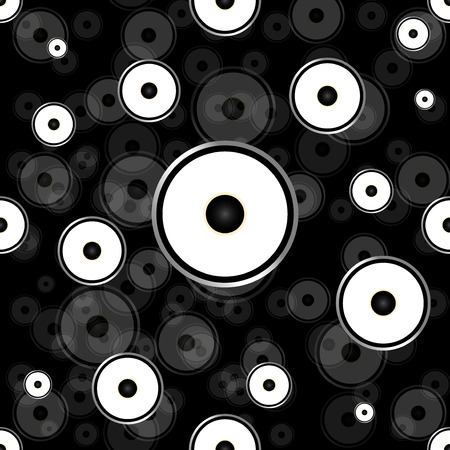 hi fi system: Seamless wallpaper background speakers.Vector illustration.