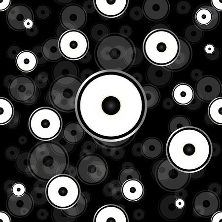 Seamless wallpaper background speakers.Vector illustration.