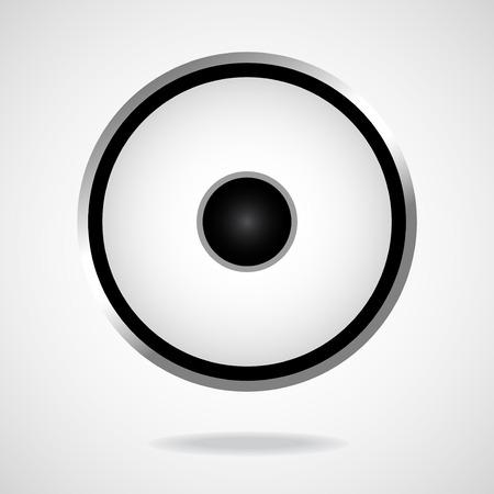 Speaker isolated on white background. Vector illustration. Eps10 Illustration