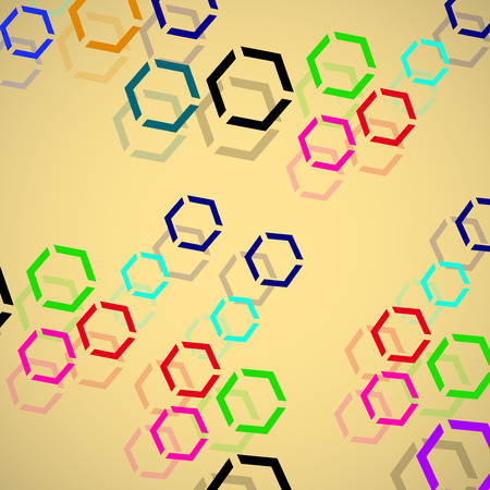 wallpaper  eps 10: Abstract geometric background from hexagons. Vector illustration. Eps 10