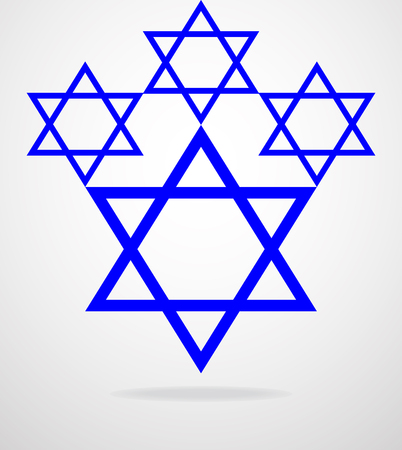 zionism: Star of David. Vector illustration. Eps 10 Illustration
