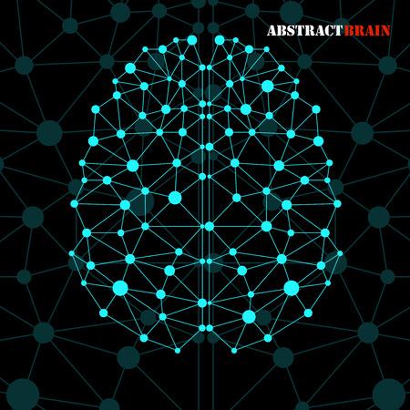 Abstract brain human, molecular structure. Vector illustration Illustration