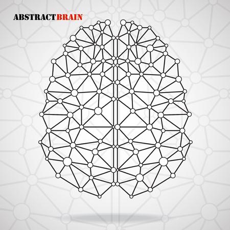 vector  molecular: Abstract brain human, molecular structure. Vector illustration Illustration