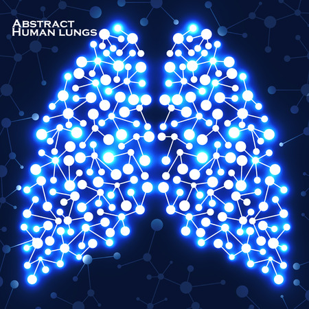 Abstract human lungs, molecule structure. Vector illustration. Eps 10