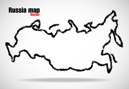 russia map: Abstract outline of Russia map