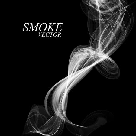 abstract smoke: Abstract smoke isolated on black, vector illustration Illustration